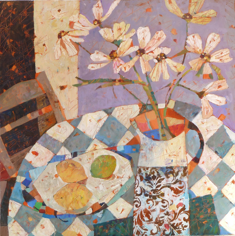 Sally_Anne_Fitter_-_Cosmos_Lemon_and_Lime_-_76x76cm